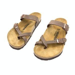 Birkenstock Mayari Mocca Birko-Flor Buckle Sandals